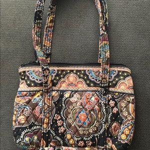Vera Bradley brown paisley medium handbag